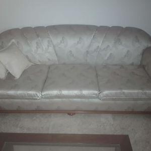 Τριθέσιος καναπές σαλονιού, διθέσιος καναπές, πολυθρόνα, τραπέζι και δύο τραπεζάκια