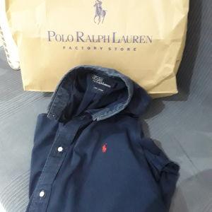 Πουκάμισο POLO RALPH LAUREN, size 15.5, χρώμα μπλε σκούρο. Σε καλή κατάσταση.