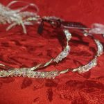 Ασημένια 925 στέφανα  γάμου Timalfi με πέτρες Swarovski