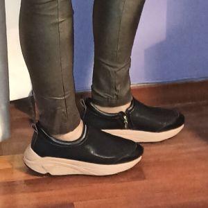 Γυναικεία παπούτσια sneakers μαύρα MYGREY