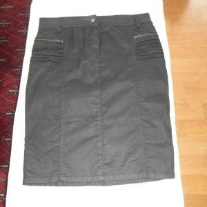Φούστα jean μαύρη