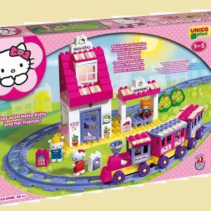 hello kitty τρένο τουβλάκια lego