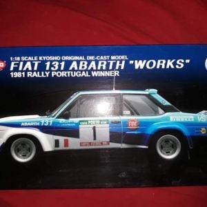 *RARE* FIAT 131 ABARTH WORKS 1981 RALLY WINNER No.1 / KYOSHO / 1: / DIECAST