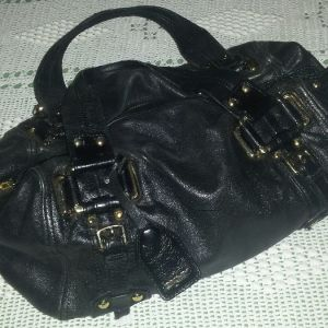 Donna Karan δερμάτινη τσάντα μαύρη αυθεντική