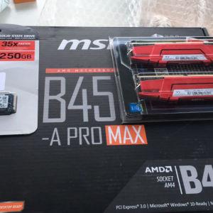 MSI B450 A pro MAX καινούργια εντός εγγύησης!!