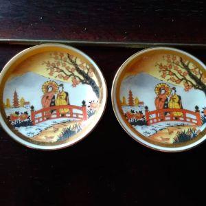 2 Διακοσμητικά Πορσελάνινα Πιατάκια, CΗΟΚΙΝ Japan