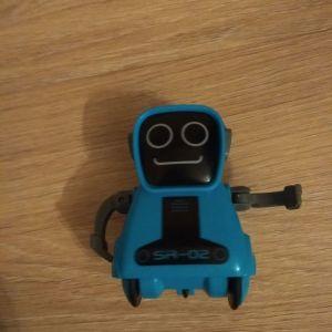 Μπλε ρομπότ που μιλάει και ηχογραφεί