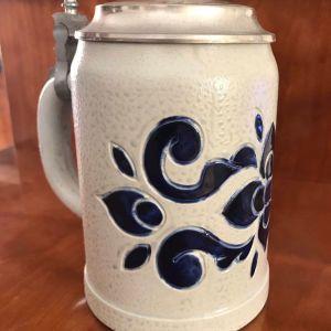 ΓΕΡΜΑΝΙΚΟ ΠΟΤΗΡΙ ΜΠΥΡΑΣ ΜΕ ΚΑΠΑΚΙ Vintage Original Gerz Ceramic Stone Beer Stein Mug