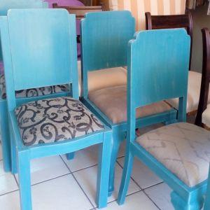 Καρέκλες Τραπεζαρίας με χειροποίητη διακόσμηση