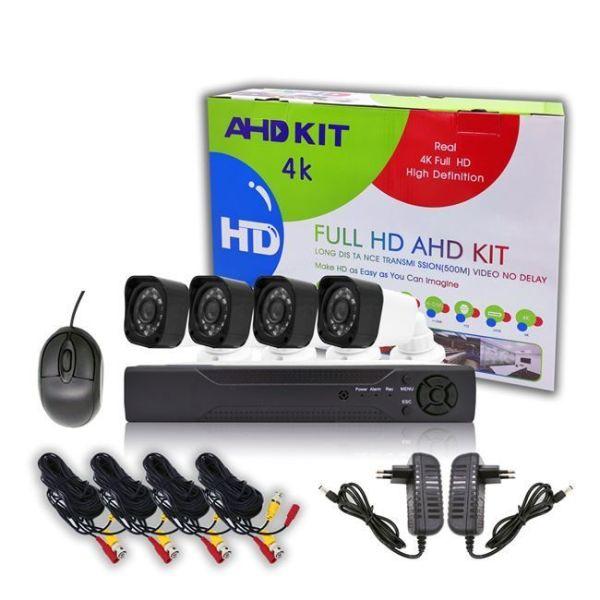 Clever SecurityCam-set 4 kameres me diadiktiako Katagrafiko DVR FULL AHD-nichterinis lipsis-adiavroches+dorean efarmogi