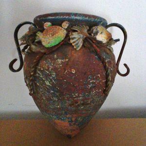 Χειροποίητο Σιδερένιο Vintage Κιούπι / Γλάστρα, για Φυτά / Λουλούδια