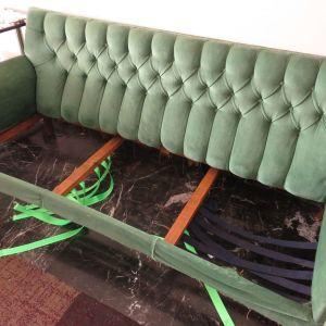 VINTAGE Πράσινος Καναπές