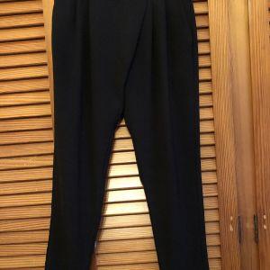 Μαύρο Παντελόνι με wrapped γραμμή