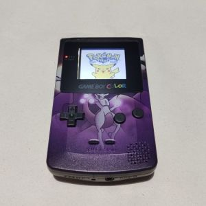 Nintendo Game Boy Color Mewtwo Edition with IPS LCD Screen