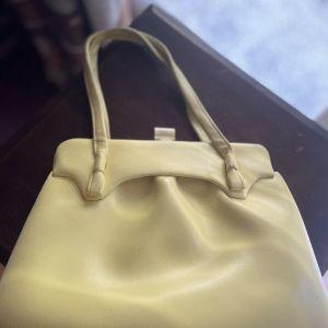 Vintage Κίτρινη Τσάντα