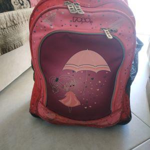 Σχολική τσάντα Polo με ροδακια και δώρο τσαντάκι φαγητού Polo