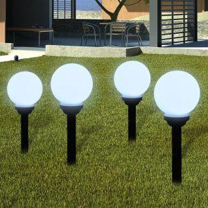 Ηλιακοί γλόμποι με LED για διαδρόμους κήπου- 40863