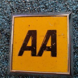 Σημα οδικής βοήθειας (ΑΑ)  μεταλλικό ,  Ηνωμενου Βασιλείου.... Αυθεντικό !!!