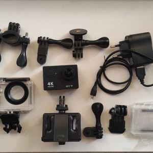 Action Camera 4K, αδιάβροχη με WiFi