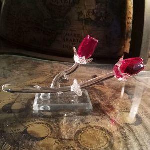 Ιταλικά χειροποίητα Κρυστάλλινα τριαντάφυλλα ...Αμεταχείριστο!