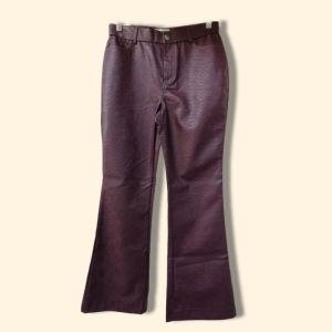 Επώνυμο δερμάτινο παντελόνι Νο 40