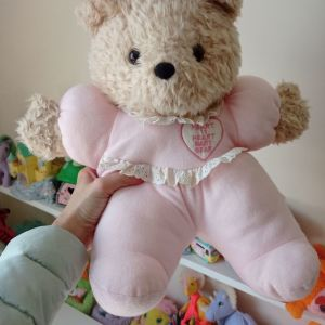 Λούτρινο αρκουδάκι heart to heart baby.Σπάνιο βιντατζ
