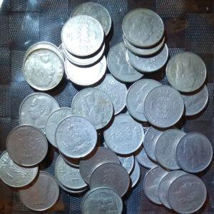 50 νομίσματα Βελγίου 1 Franc