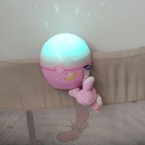 Μουσικό - προβολέας Chicco Night Light Projector Next 2 me Stars ροζ για παρκοκρεβατο και λίκνο!!!!