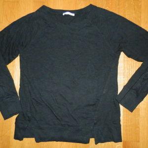 zara small μπλουζακι με κοψιματακια κατω