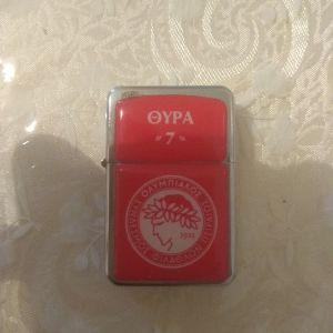 αναπτήρας με το σήμα του ολυμπιακό υ