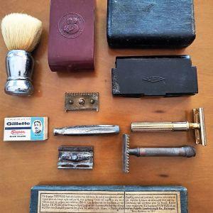 συλλεκτικά ξυριστικά vintage: μηχανές Gillette και αξεσουάρ ξυρίσματος
