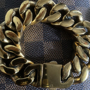 Cuban link unisex bracelet gold stainless steel