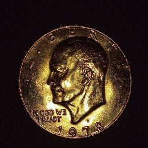 ONE DOLLAR 1978 επίχρυσο