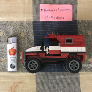 Lego πυροσβεστικό όχημα σε άριστη κατάσταση  + δώρα