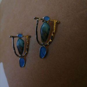 Vintage σκουλαρίκια με μαργαριτάρι.