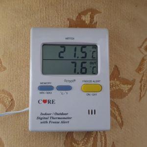θερμόμετρο εσωτερικού και εξωτερικού χώρου