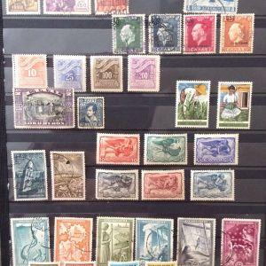 77 διαφορετικες ελληνικες σειρες γραμματοσημων σφραγισμενων-ασφραγιστων 1924-1995