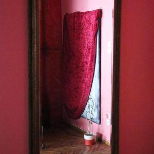 Μεγάλος κρυστάλλινος καθρέφτης vintage