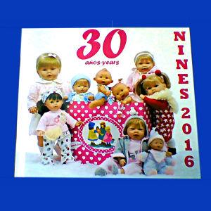 Αγγελιες κουκλα μωρο κουκλες μωρα Nines D'onil Ισπανια Ισπανικες πολυτελης διαφημιστικος καταλογος περιοδικο βιβλιο 30 anos - years Nines Artesanals D'onil 2016 spanish catalog catalogue catalogo