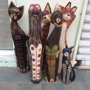 Γάτες ξύλινες 1 μέτρου