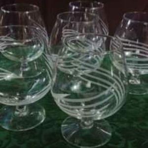 Ποτήρια του κονιάκ/ μπρεντι Studio N 24 (450 ml).Vintage κρύσταλλο
