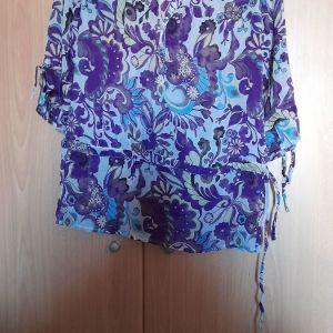 Αραχνωυφαντη πουκαμισα με ωραια χρωματα καινουργια σε στυλ τσαρλστον μακρυ μανικι