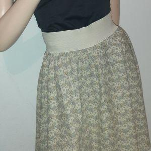 φούστα κλός με λάστιχο στη μέση