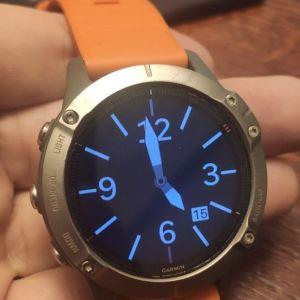 Ρολόι Garmin Fenix 6 Sapphire 47mm (Titanium with Ember Orange Band)