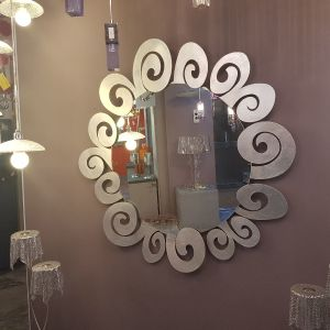 Μοντέρνος μεταλλικός καθρέφτης φύλλο ασημιού