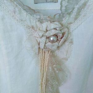 φόρεμα λινό εκρου