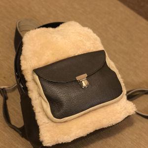 sheepskin backpack