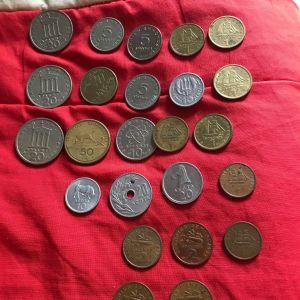 Συλλογή ελληνικών και ξένων νομισματων