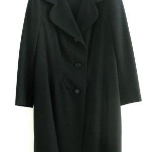 Vintage Μαντό -Παλτό Ανοιξιάτικο / Φθινοπωρινό Μαύρο Medium
