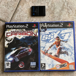 PS2 παιχνίδια και memory card 8mb